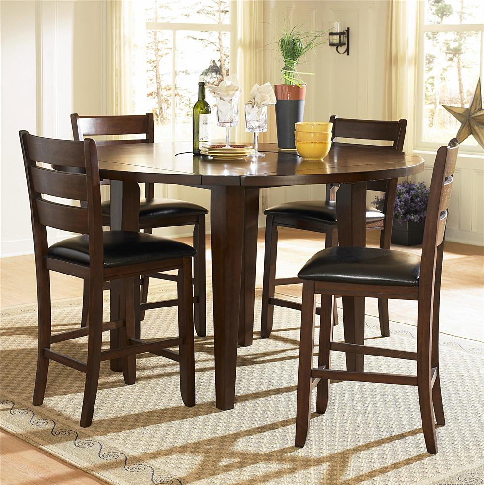 Homelegance 586 Five Piece Pub Set - Item Number: 586-36RD+4x24