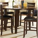Homelegance Ameillia Five Piece Pub Table Set - Round Counter Height Drop Leaf Table