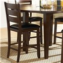 Homelegance Ameillia Five Piece Pub Table Set - Counter Height Chair