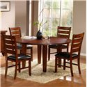 Homelegance 586 Five Piece Dining Set - Item Number: 586-60+4xS