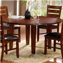 Homelegance 586 Five Piece Dining Set with Round Table - Round Drop Leaf Table