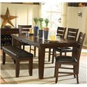 Homelegance Ameillia Six Piece Dining Set - Item Number: 586-82+14+4xS