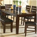 Homelegance Ameillia Six Piece Dining Set with Bench - Dining Table, Dark Oak Finish