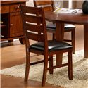 Homelegance Ameillia Six Piece Dining Set with Bench - Ladder Back Side Chair