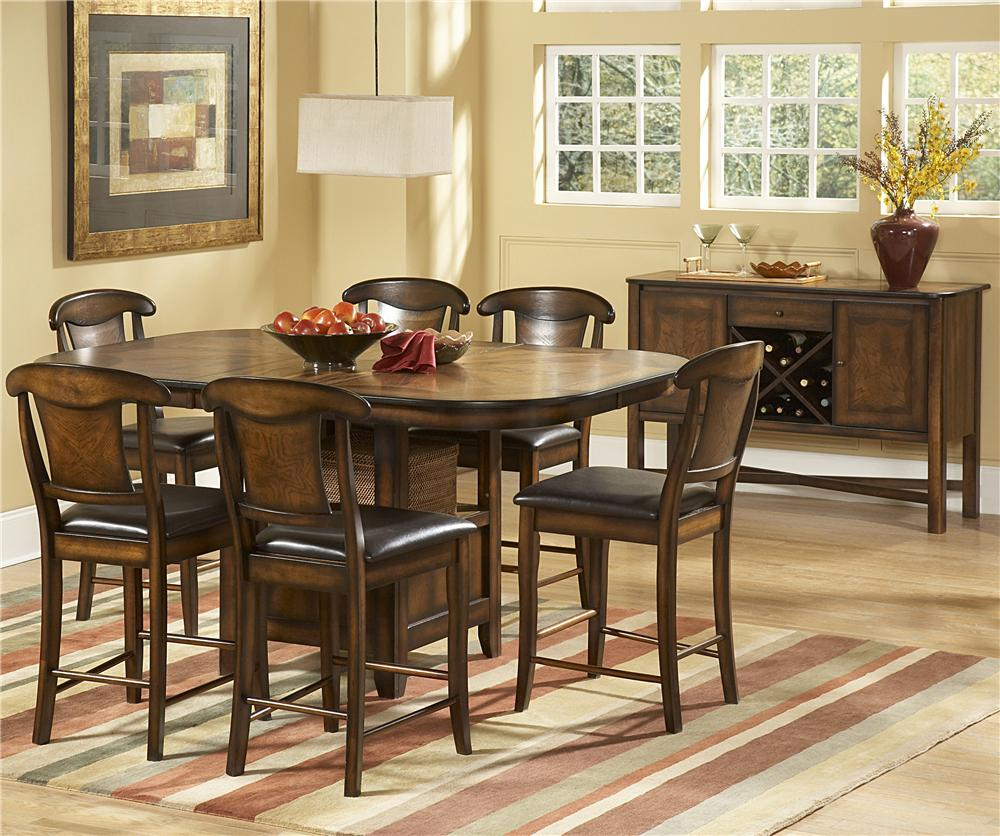 Homelegance 626 7 Piece Counter Height Set - Item Number: 626-36+6x24