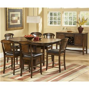 Homelegance 626 7 Piece Counter Height Set