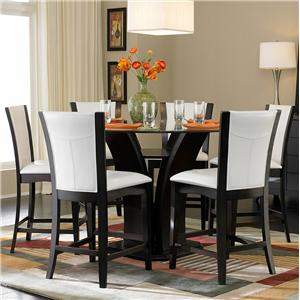 Homelegance 710 7-Piece Counter Height Glass Top Dining Set