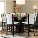 Homelegance 710 7-Piece Counter Height Glass Top Dining Set - Item Number: 710-36RD+6x24W