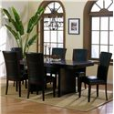Homelegance 710 Parson Side Chair - Shown With Trestle Table