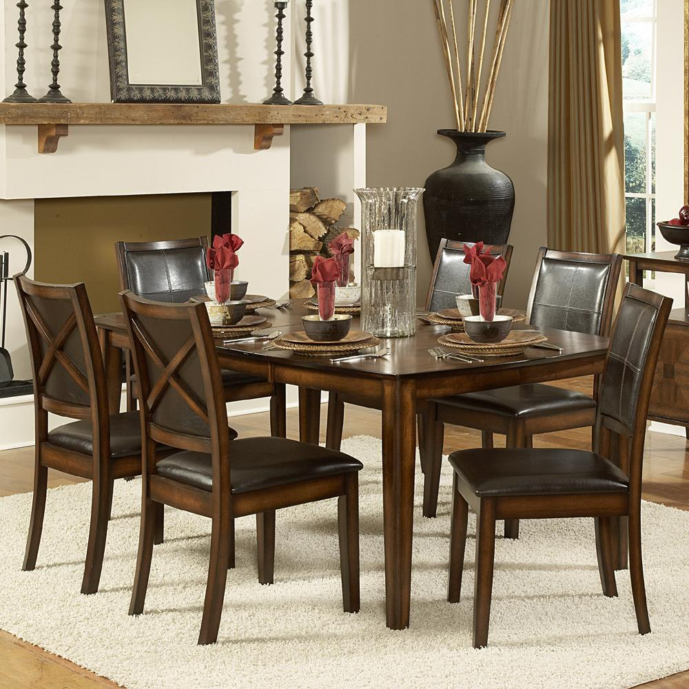 Homelegance Verona 7-Piece Dining Table Set - Item Number: 727-72+6x727S