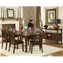 Homelegance Verona Dining Table w/ Leaf - Shown as part of formal dining set with sideboard
