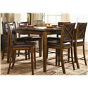 Homelegance Verona Chicago Pub Height Rectangular Table with 14 Inch Leaf - Shown with Counter Stools