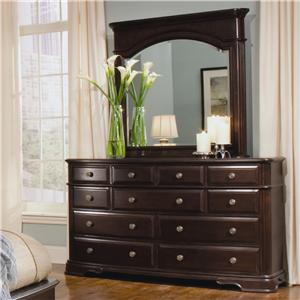 Homelegance 858 Eleven Drawer Dresser with Mirror