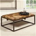 Home Insights Ravenna Burl Wood Cocktail Table - Item Number: C105-01
