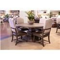 Home Insights Bryce Canyon Pedestal Table & 4 Upholstered Side Chairs - Item Number: GRP-D031-PEDESTAL-TBL4