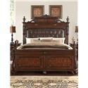 Home Insights B2161 Vintage Queen Panel Bed - Item Number: B2161-01+02+03_06