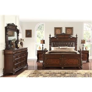 Home Insights Vintage 5 Piece Genevieve Bed Group