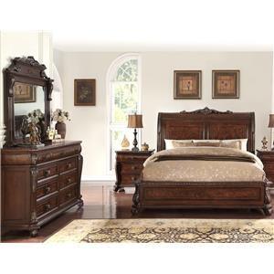 5 Piece Elizabeth Sleigh Bed Group