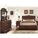 Home Insights Vintage 5 Piece Elizabeth Sleigh Bed Group - Item Number: B2161 Sleigh Bed Group