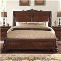 Home Insights Vintage Elizabeth Sleigh Bed - Item Number: B2161-14+-15+-13