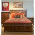 Home Insights B414 Wood Panel King Bed - Item Number: B414-04+05+06