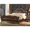 Home Insights Bali Queen Upholstered Sleigh Bed - Item Number: B003-31+-02+-03 06