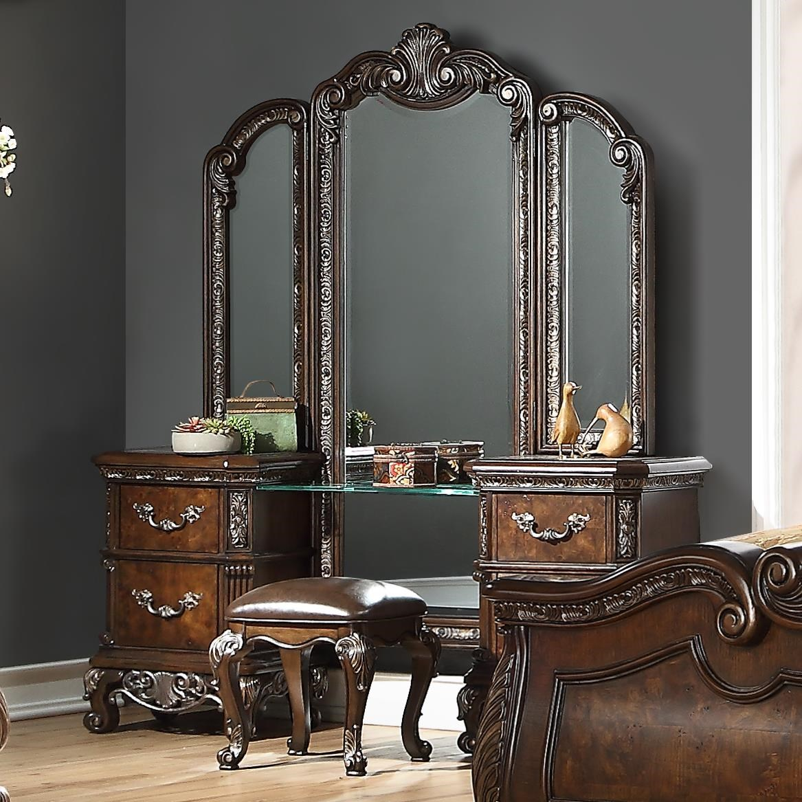 Vanity With Triple Mirror