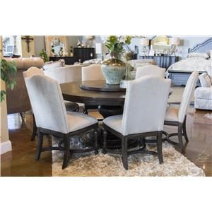 Home Insights Venetian Round Dining Table & 6 Upholstered Chairs