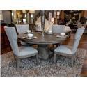 Home Insights Manhattan Pedestal Table & 4 Chairs - Item Number: GRP-D109-PEDESTAL-TBL6