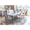 Home Insights Manhattan Dining Table, 4 Side Chairs & 2 Arm Chairs - Item Number: TableGroup