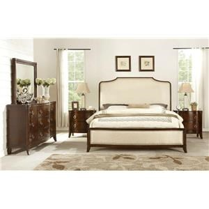 Home Insights Tribeca Bedroom Walnut King Upholstered Sleigh Bedroom Suite