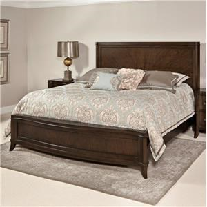 Home Insights Tribeca Bedroom Walnut Curved King Bed