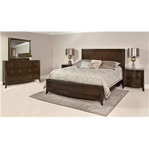 Home Insights Tribeca Bedroom Walnut Queen Curved Bedroom Suite