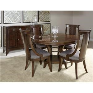 Home Insights Tribeca Dining Pedestal Dining Table & 6 Side Chairs