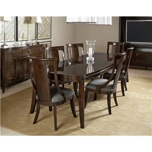 Home Insights Tribeca Dining Walnut Rectangular Dining Table & 6 Side Cha