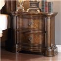 Home Insights Pantheon Nightstand with Marble Top - Item Number: B421-81