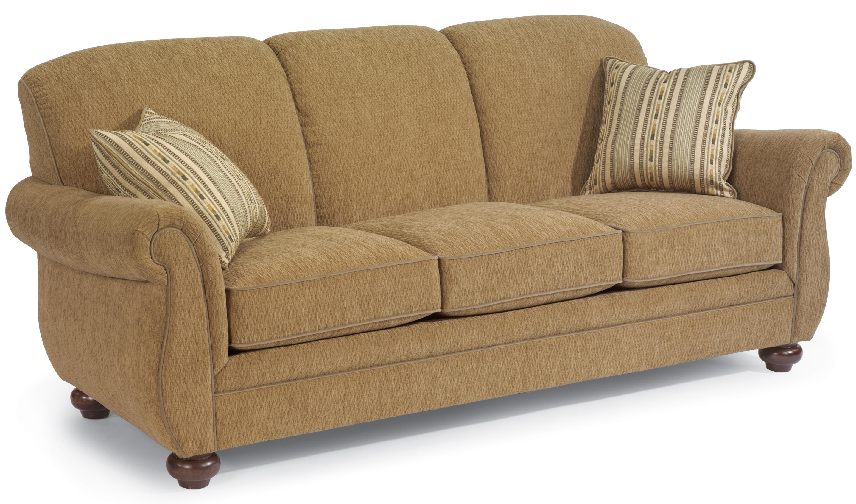 Flexsteel Winston Three Seat Stationary Sofa AHFA Sofa Dealer