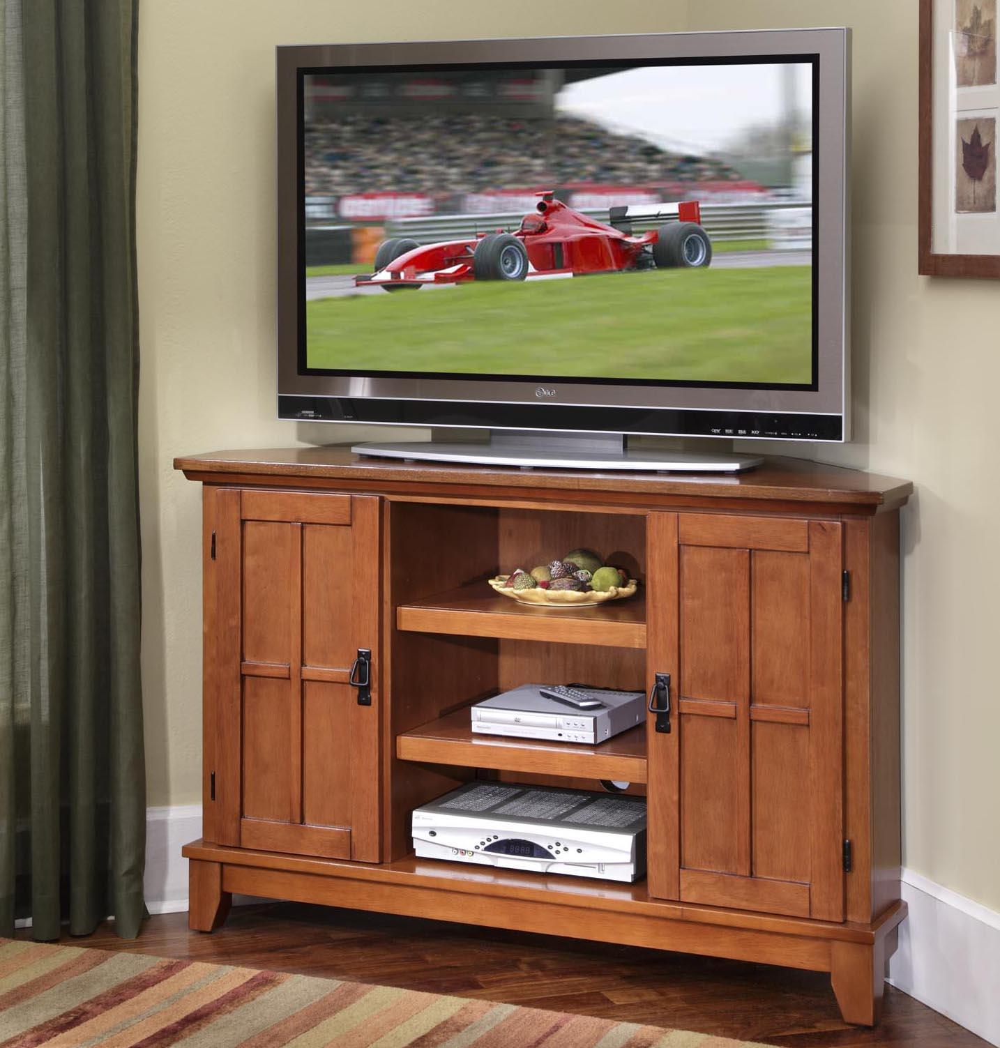 Home Styles Arts And Crafts 2 Door Corner Entertainment Cabinet With  Lattice Molding   AHFA   TV Or Computer Unit Dealer Locator