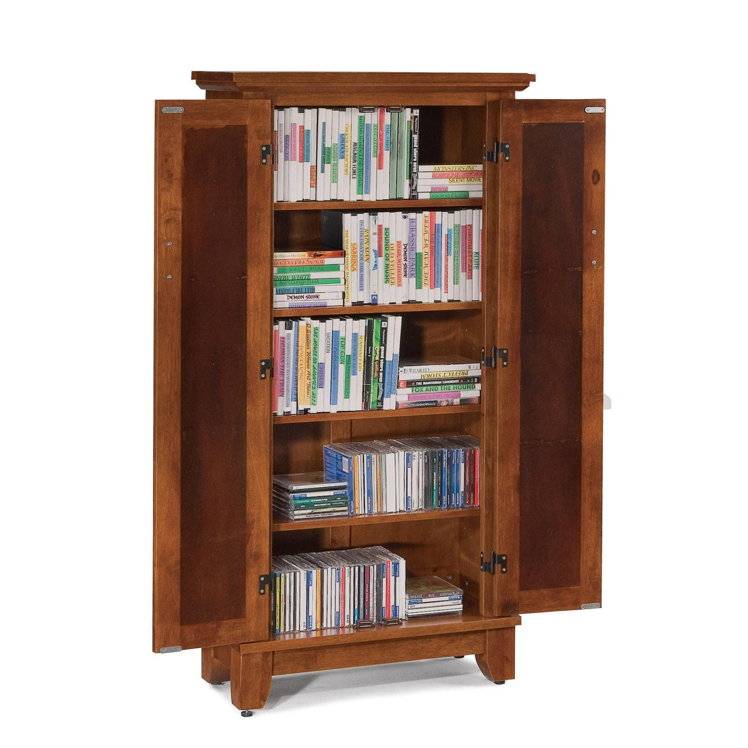 Home Styles Arts and Crafts 5 Shelf Closed Bookcase | AHFA ...