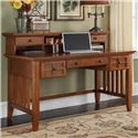 Home Styles Arts and Crafts Executive Desk and Hutch - Item Number: 5180-152