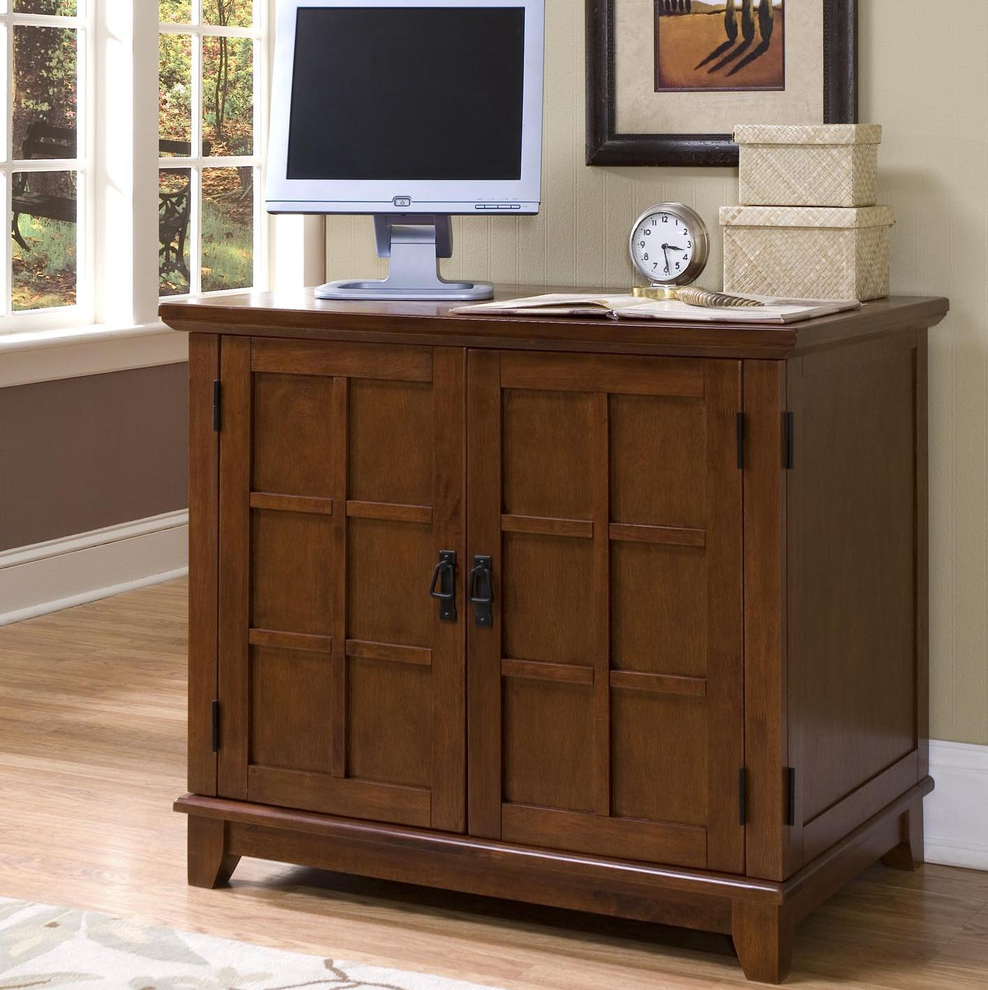 compact office. Arts And Crafts 2 Door Compact Office Cabinet By Home Styles