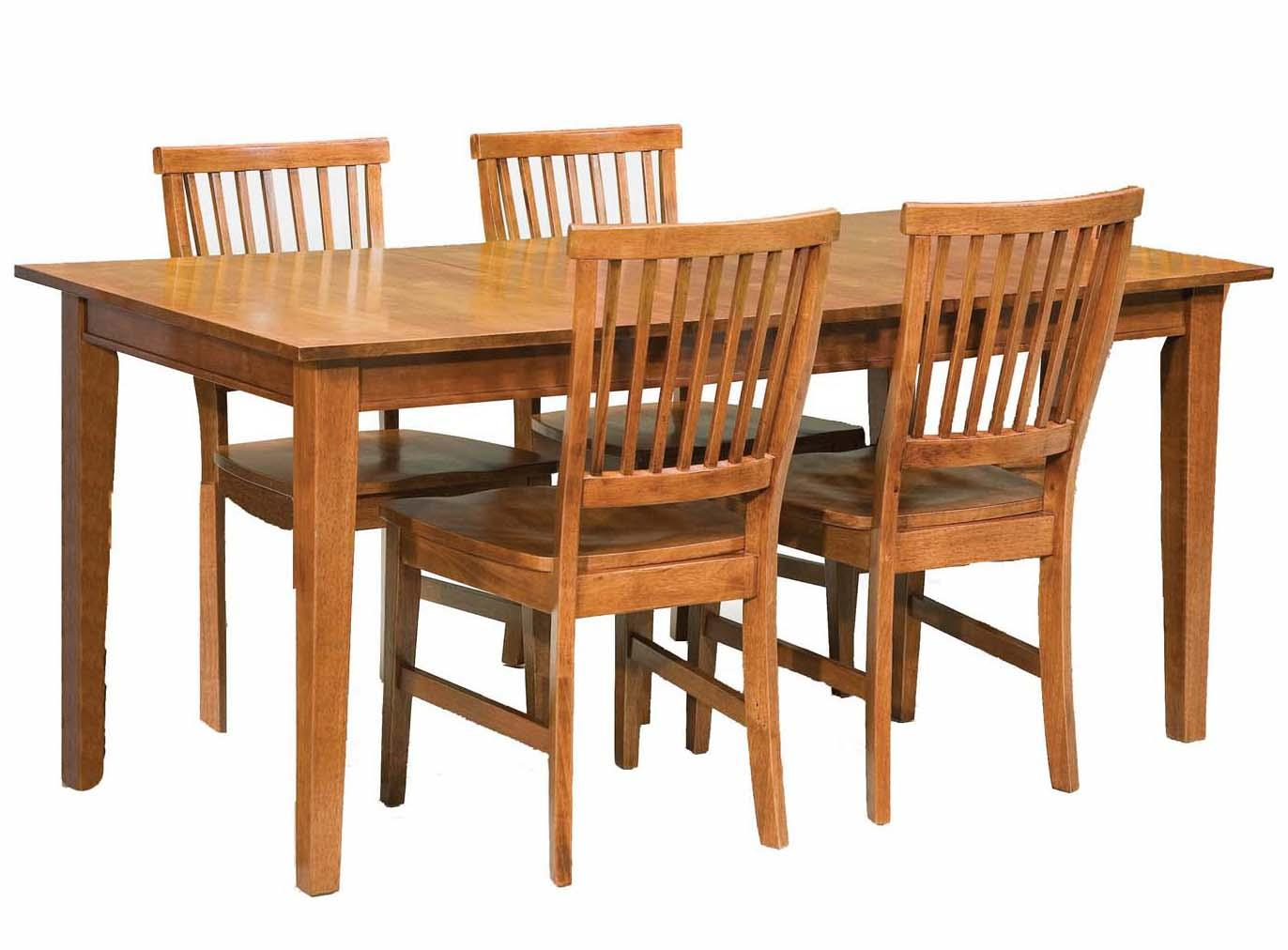 Arts And Crafts 5 Piece Rectangular Table And Side Chair Dining Set By Home  Styles