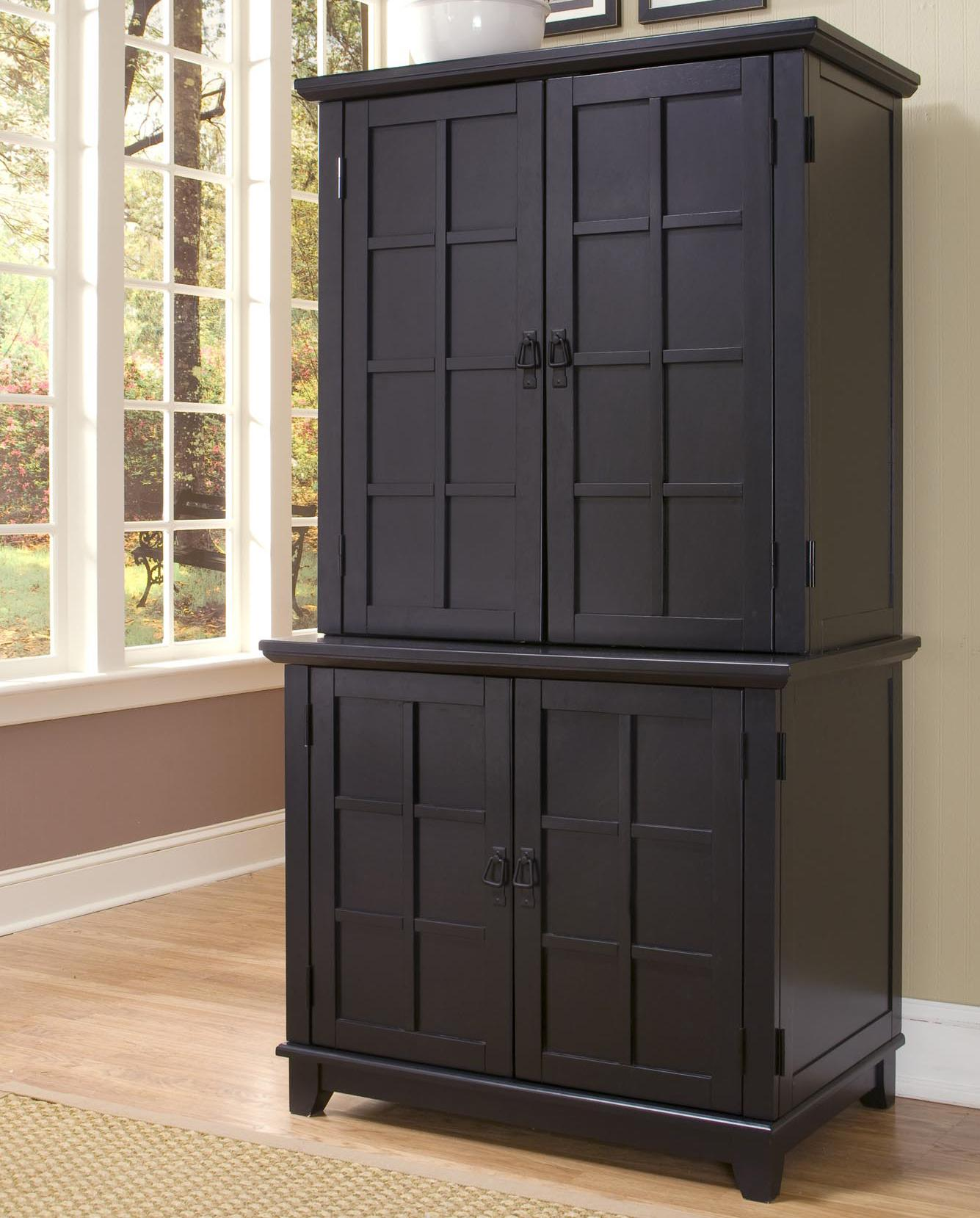 Arts And Crafts Compact Office Cabinet With Hutch By Home Styles