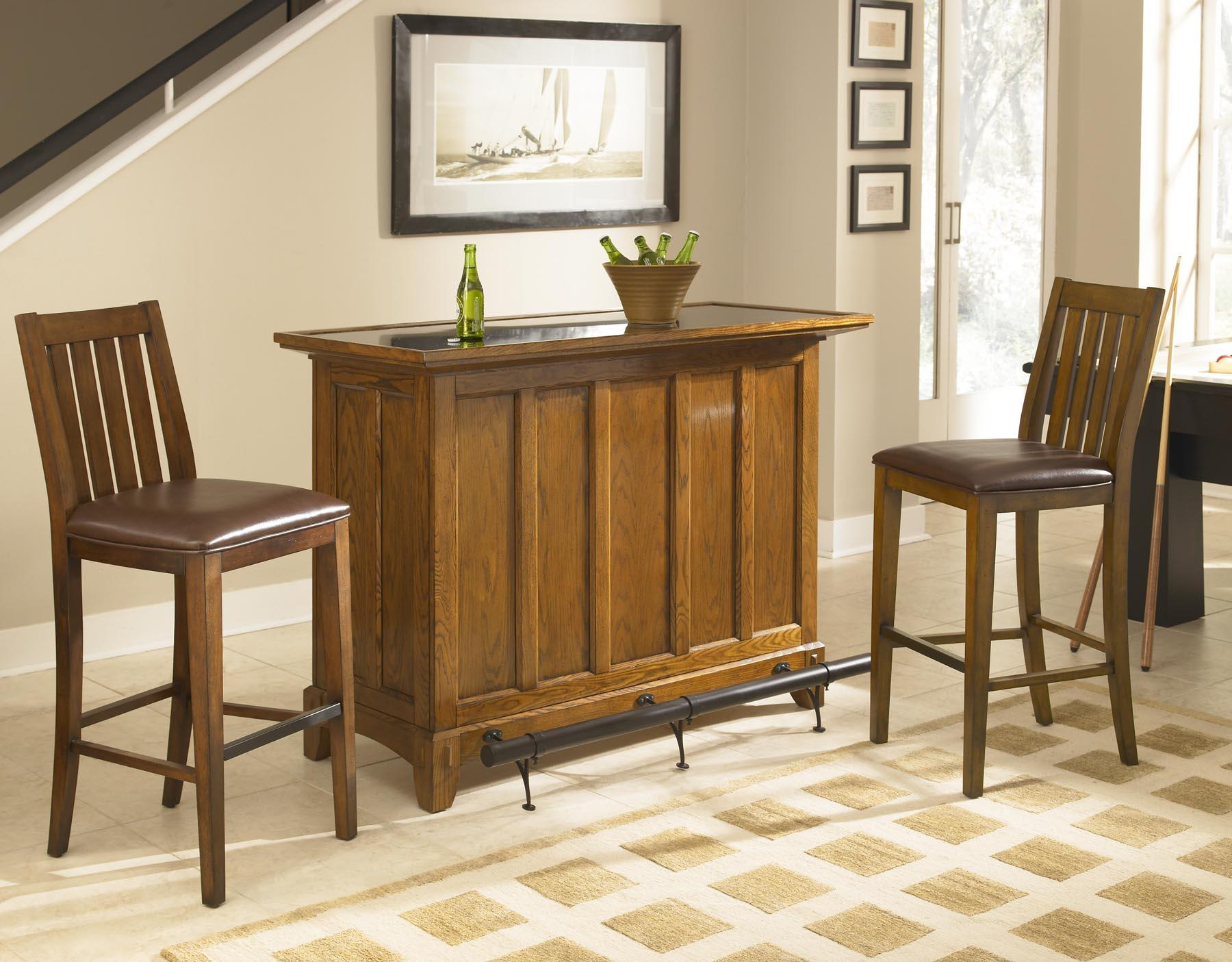 home styles arts and crafts mission style bar with storage and home styles arts and crafts bar set with stools