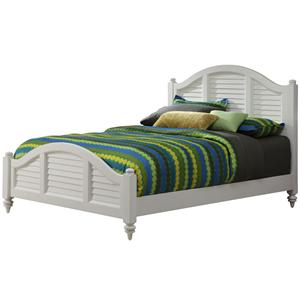 Bermuda Queen Panel Bed with Louvered Headboard by Home Styles