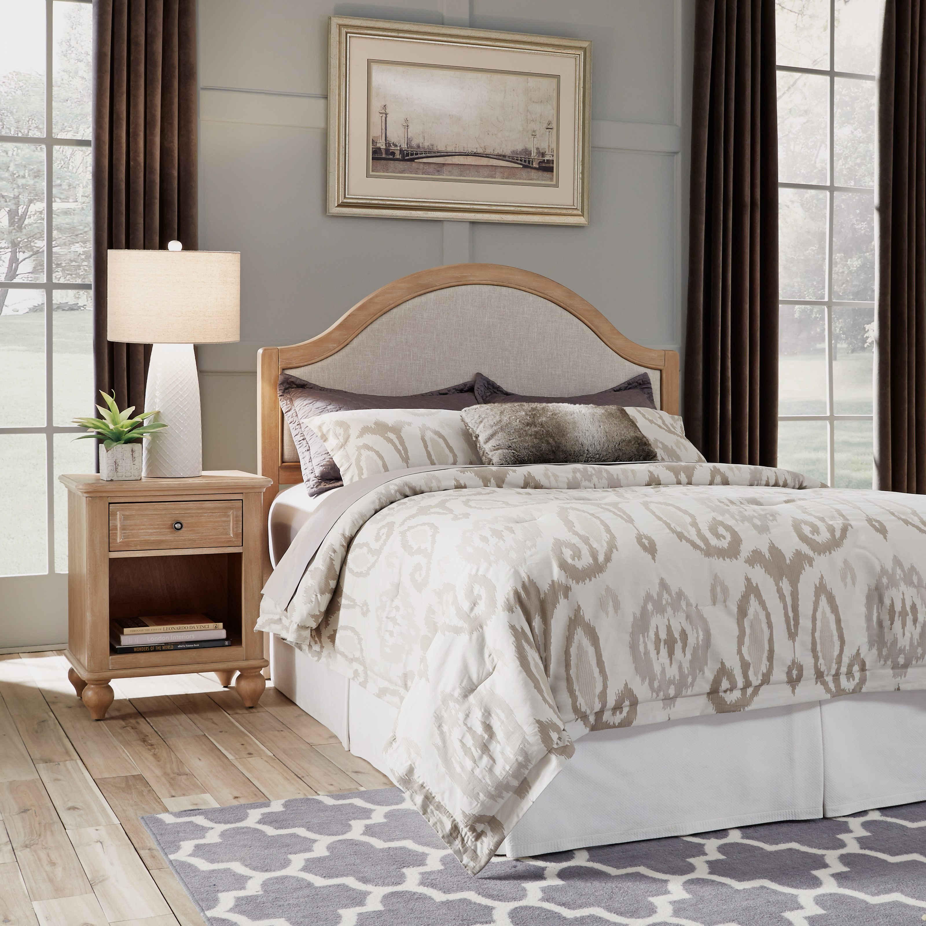 Cambridge Queen Headboard & Nightstand by Homestyles at Northeast Factory Direct
