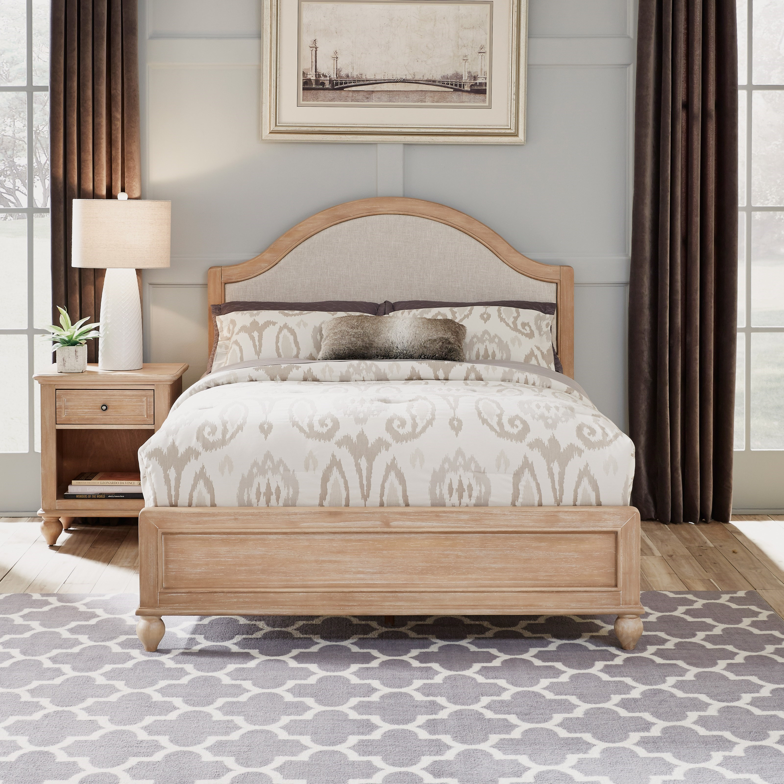 Cambridge Queen Bed & Nightstand by Homestyles at Northeast Factory Direct