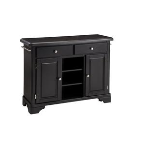 Black Granite Top Kitchen Cart