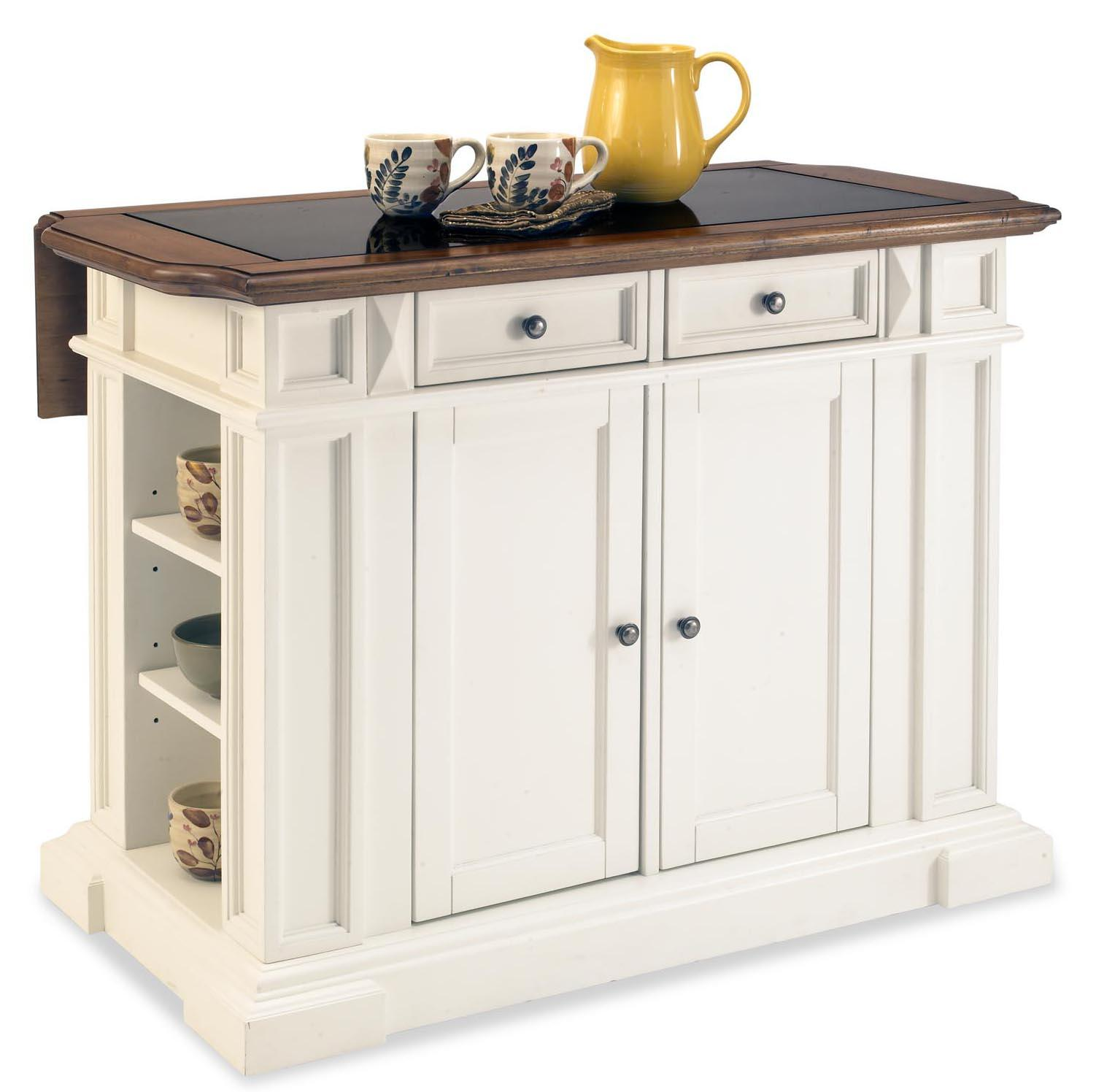 Sonja used the reclaim paint color pebble by caromal colours a - Cool Home Styles Kitchen Island White And Distressed Oak Finish With