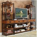 Home Styles Modern Craftsman 3 Piece Entertainment Center - Item Number: 5050-34